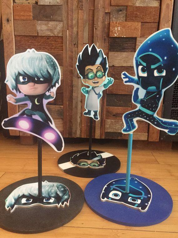 PJ Masks Inspired Centepiece Romeo Luna Night ninja by SOUTHFLOWER
