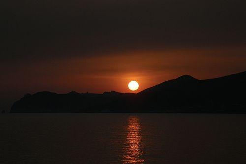 Sunset in Vlihada Santorini