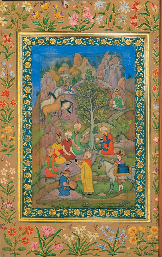 """""""Meeting in Nature"""" - miniature made in the first half of century XVII A.D."""