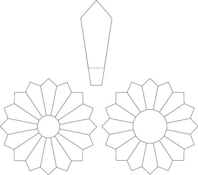 Dresden Plate Printable Pattern for 16 and 20 blade plate. Also tutorial.