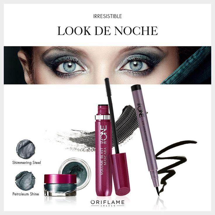 Mezcla de rockera y femme fatale. ¡Este maquillaje te hará irresistible esta noche! #MakeUp #Tip #Maquillaje #Noche #OriflameTheOne #OriflameMx