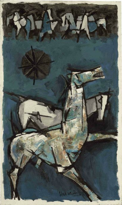 M.F. Husain painting horse - Bing Images