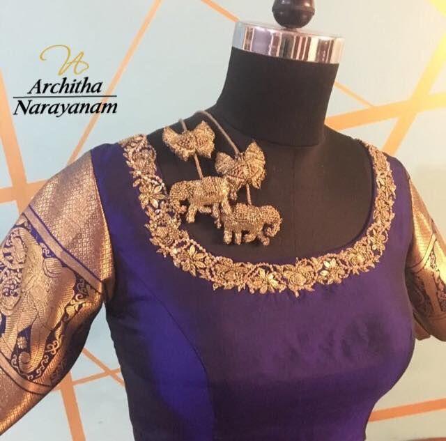 Stunning designer blouse with elephant motifs. 30 October 2017