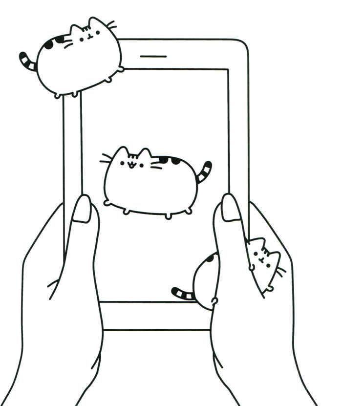 Pusheen Tablet Coloring Page Cat Coloring Page Cat Coloring Book