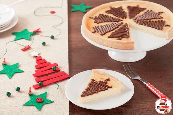 Cómo hacer tarta de queso con Nutella® ¡y triunfar en Navidad! , Hoy os vamos a enseñar una navideña tarta de queso al horno con Nutella® con la que vais a triunfar en vuestra familia. Os iba a decir entre los ni...