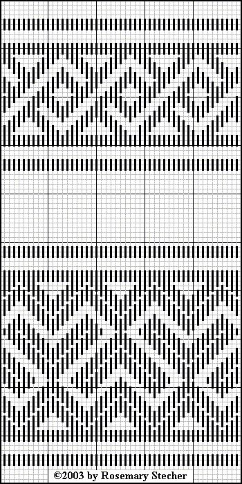 Chart for pattern darning