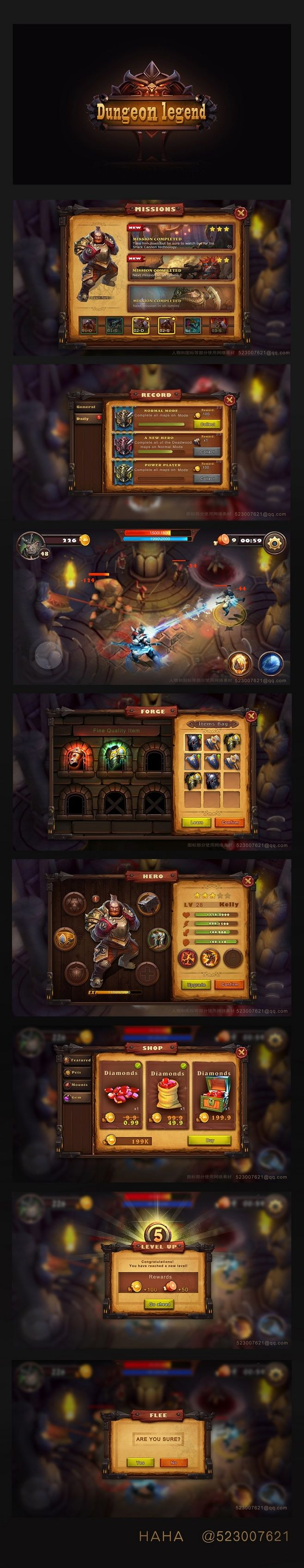 Original works: Dungeon Legends