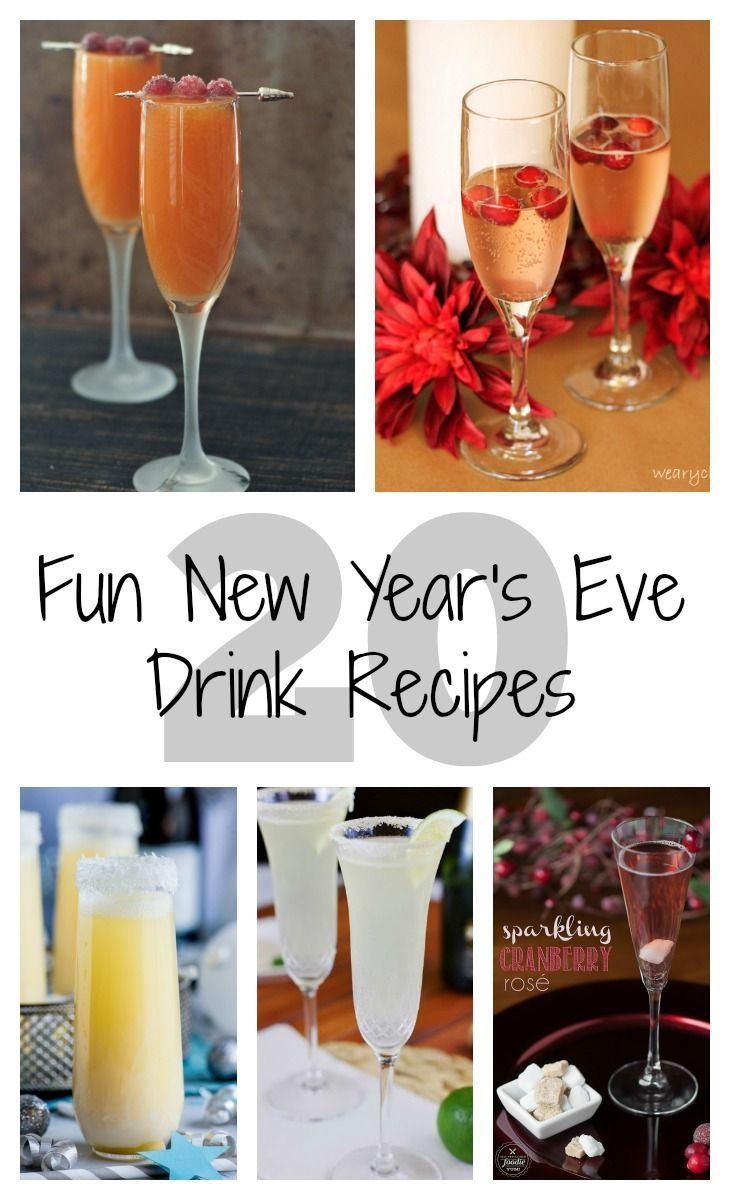 Spending New Year's Eve in? No reason not to be festive with one of these 20 New Year's Eve Drinks!