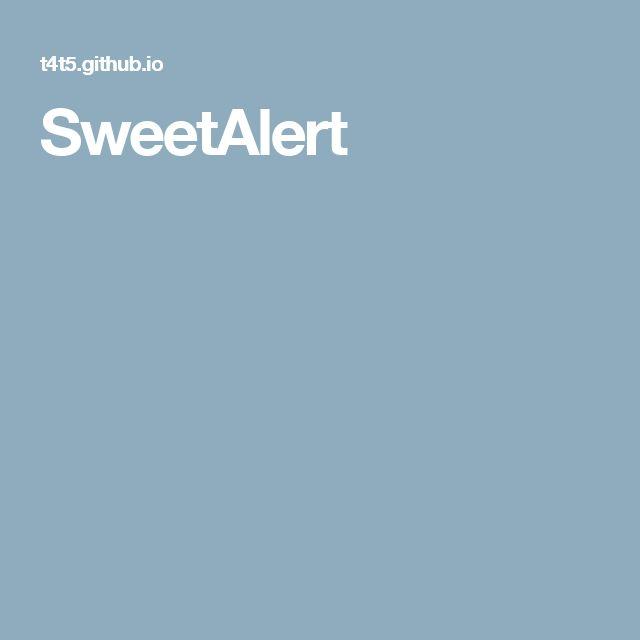 SweetAlert