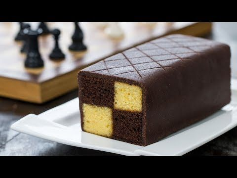 Chocolate Almond Battenberg Cake - 4k video - YouTube