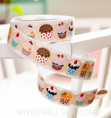 Cute Paper Tape from Pikku Shop | www.pikku-shop.com | #stickers #tape #stationery #kawaii #cute #cupcake #muffin