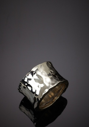 argento vivo hammered ring