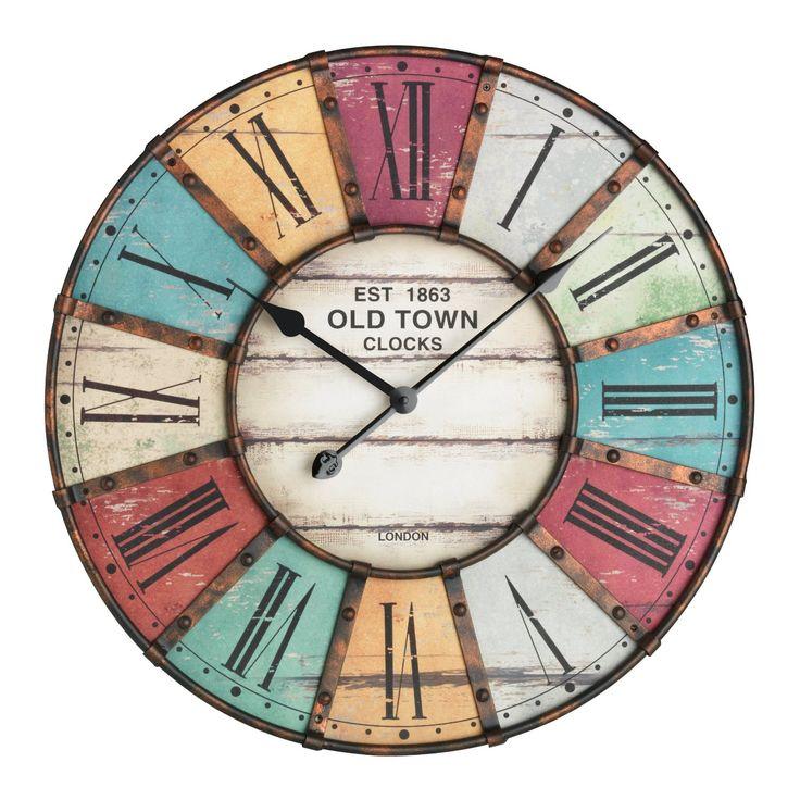 1000 id es sur le th me horloge murale vintage sur pinterest parement mural - Horloge murale vintage ...