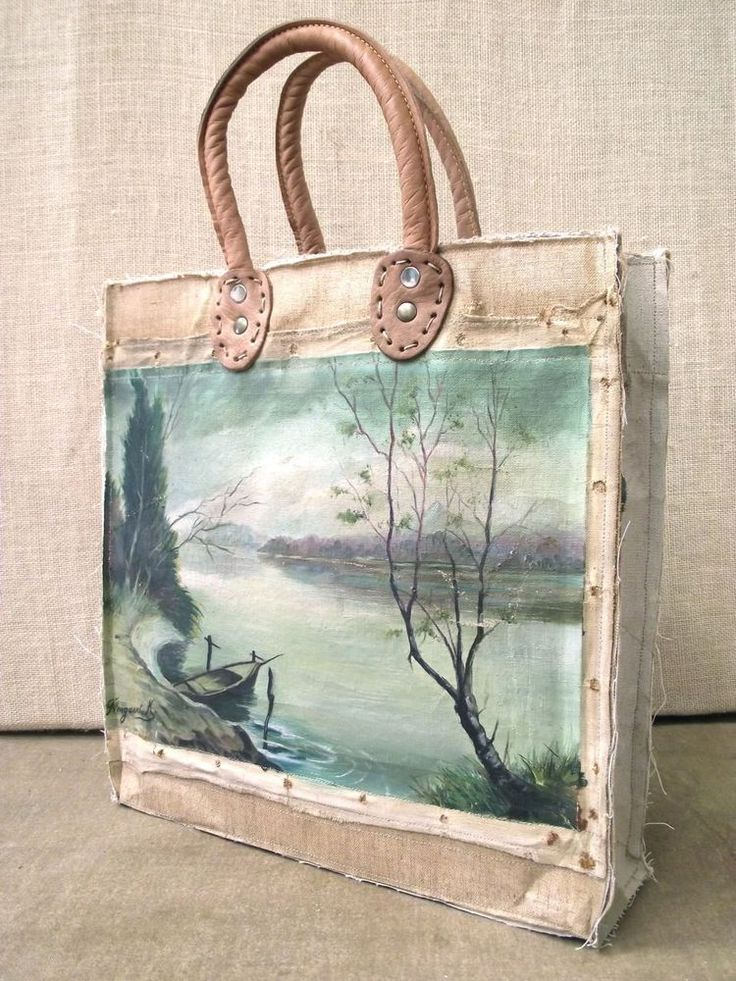 bags by SWARM Image of Painting Bag - Lake (free shipping)