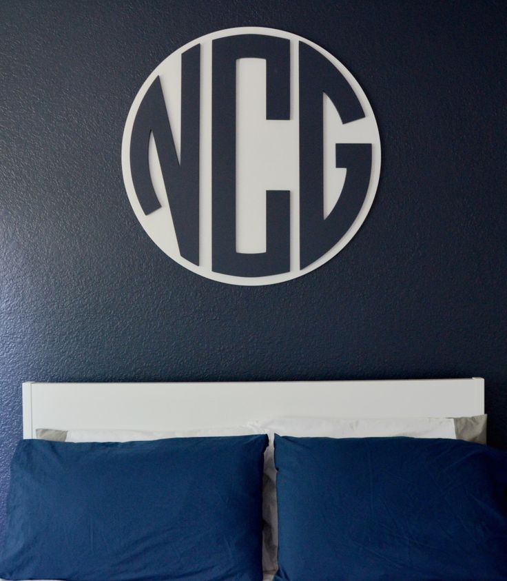 @spottedzebras Mounted Circle Monogram: Wall Decor, Spottedzebras Mounted, Nursery Boy, Mounted Circle, Circle Monogram, Bedroom Makeover, Master Bedroom, Children S Wall