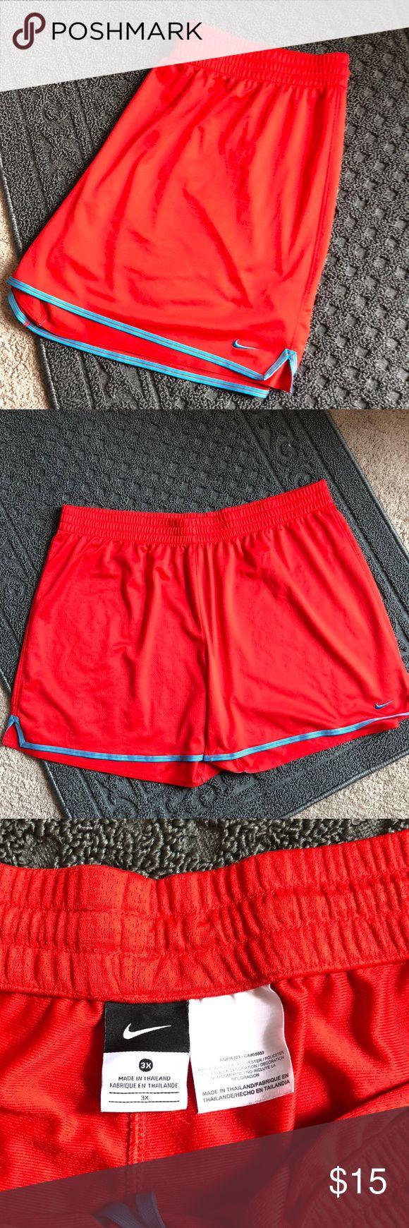 Herren Nike Shorts Orange / Blau Nike Short. Blaues Logo unten links. Blau …   – My Posh Picks