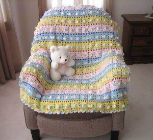 Pop Goes the Weasel Afghan Crochet Pattern