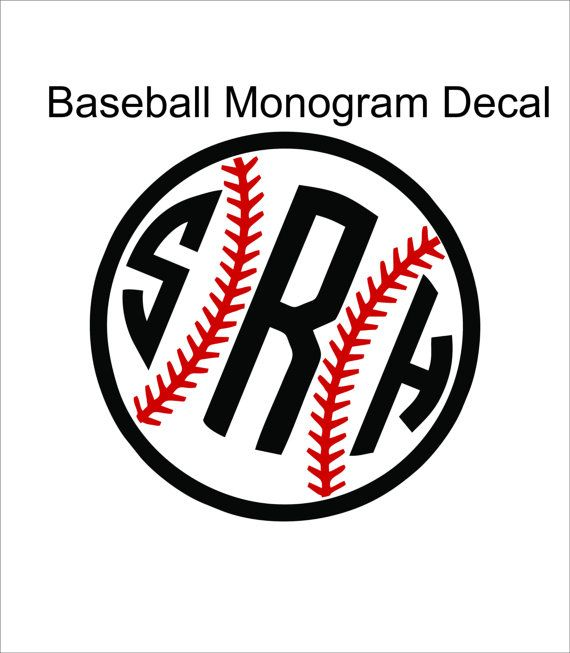 Best  Monogram Stickers Ideas On Pinterest Monograms - Custom car decals baseball