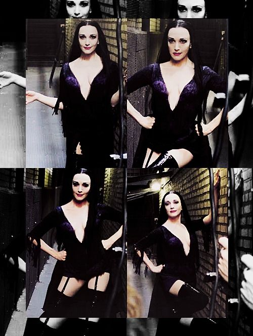 Bebe Neuwirth as Morticia, in a production of a MUSICAl Addams Family show.   Dreams = came true.