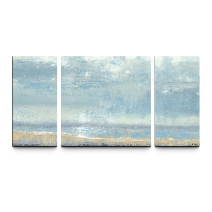 Shoreline View 30 x 60 Textured Canvas Art Print Triptych | from hayneedle.com