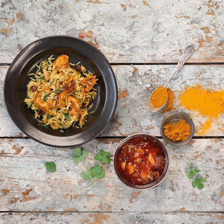 Kip biryani met Coconut, Chilli en Lemongrass Basmati | Recept | ELLE Eten
