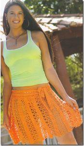 Оранжевая юбка, связанная крючком - Юбки,шорты,штаны - Вязание крючком -МАСТЕР-КЛАССЫ ПО РУКОДЕЛИЮ- Страна рукоделия