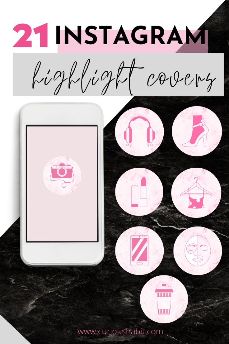 21 Instagram Highlight Icons PINK EDITION Instagram