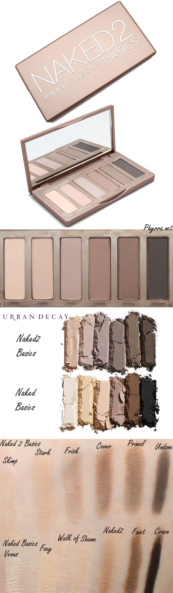 Urban Decay Naked 2 Basics compared to the Naked Basics Palette!   #crueltyfree #urbandecay #eyeshadow