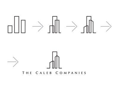 THE CALEB COMPANIES logo case study from 2011 by Peter Vasvari