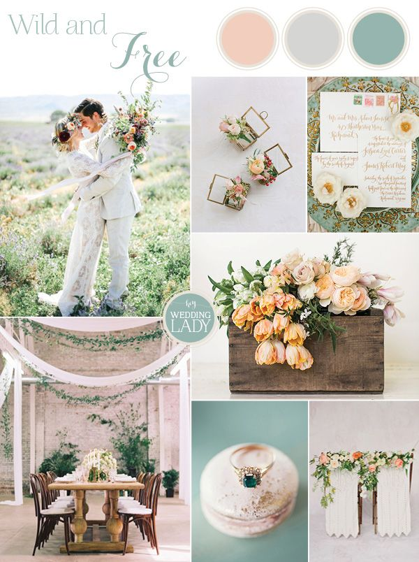 Wild at Heart - Carefree Bohemian Wedding in Peach and Sage
