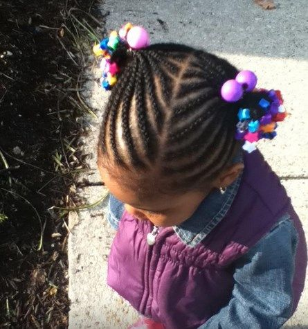pigtail cornrows kids beads - Google Search