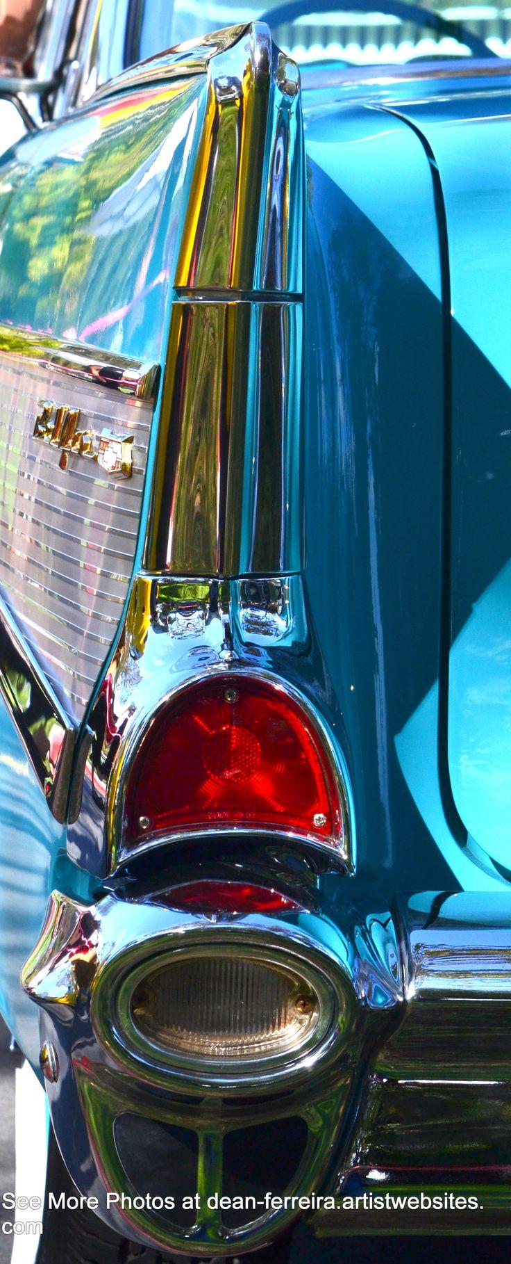 Aqua 1957 Chevy Fin and Tail Light by http://dean-ferreira.artistwebsites.com/?tab=artwork