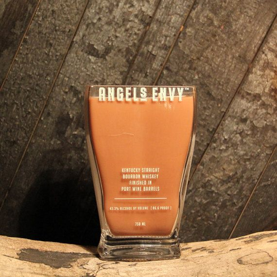 Upcycled Whiskey Candle  Recycled Bourbon Bottle by ReWickedCandle