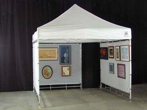 ez up tent with mesh wall | EZ Up & Pop Up Walls