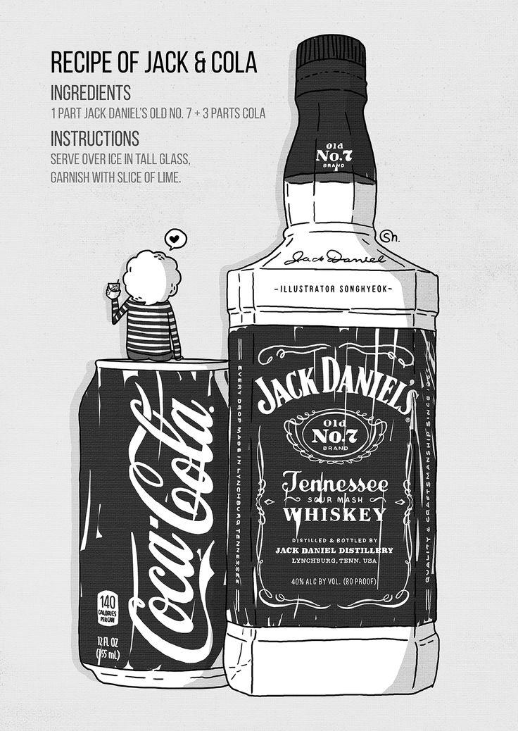Recipe of Jack & Cola 2016 / Songkingko #illust #illustration #jackdaniels #cocacola #songkingko