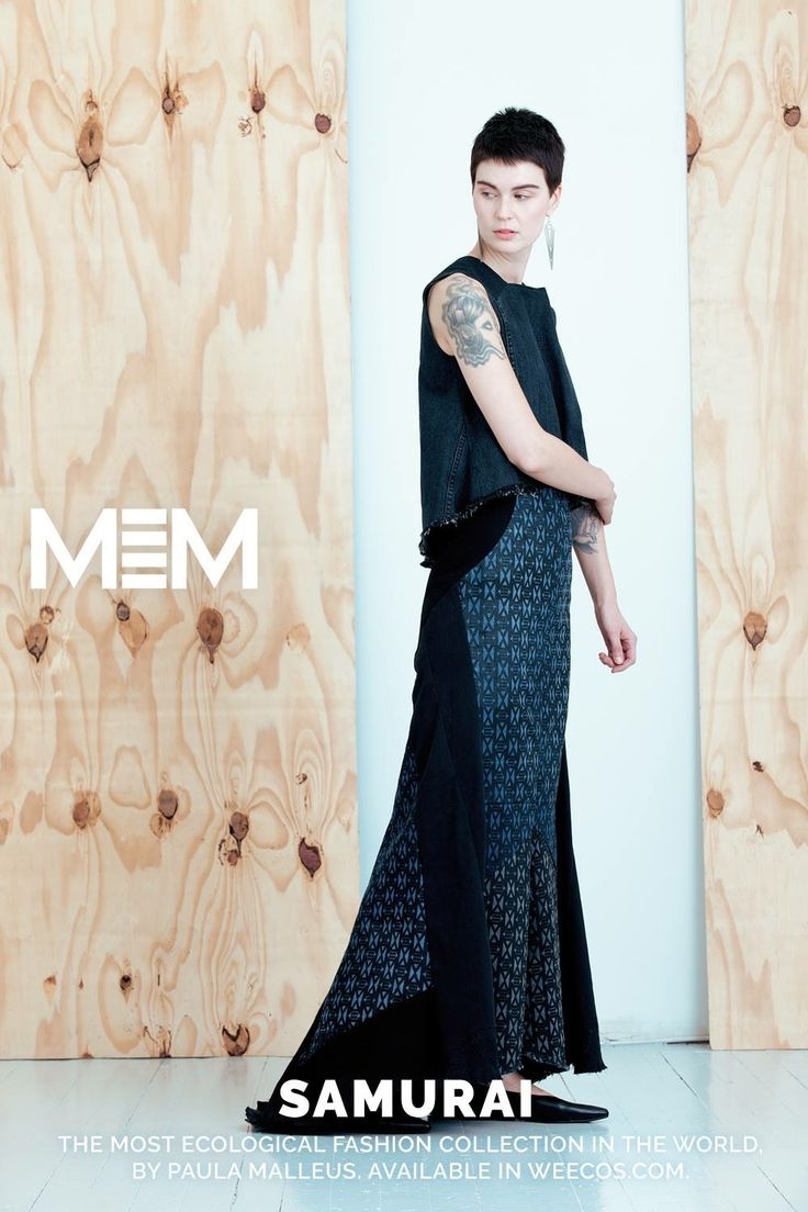 Pure postconsumer denim design MEM samurai 2017 Kurin top Kohani maxidress