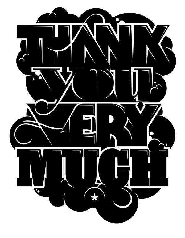 thank you very much #typography #inspiration