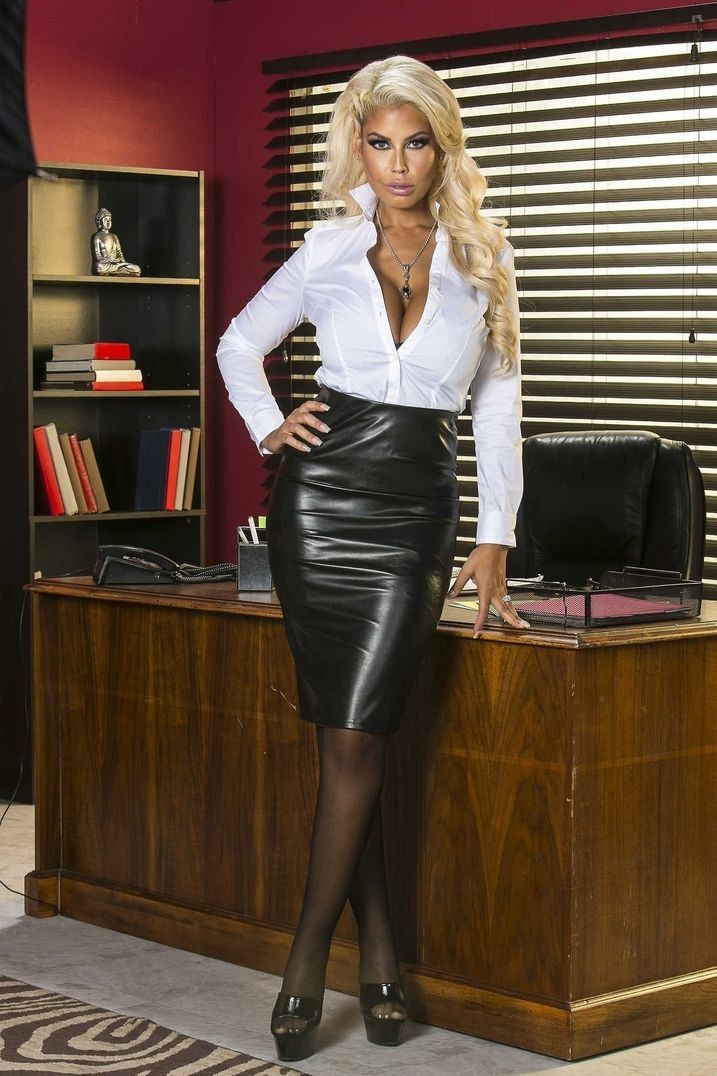 The Office Bimbo | Controlling the man | Satin blouses ...