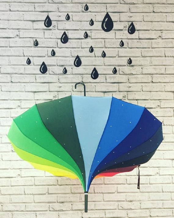 Rainbow Umbrella by Love Umbrellas by LoveUmbrellas on Etsy