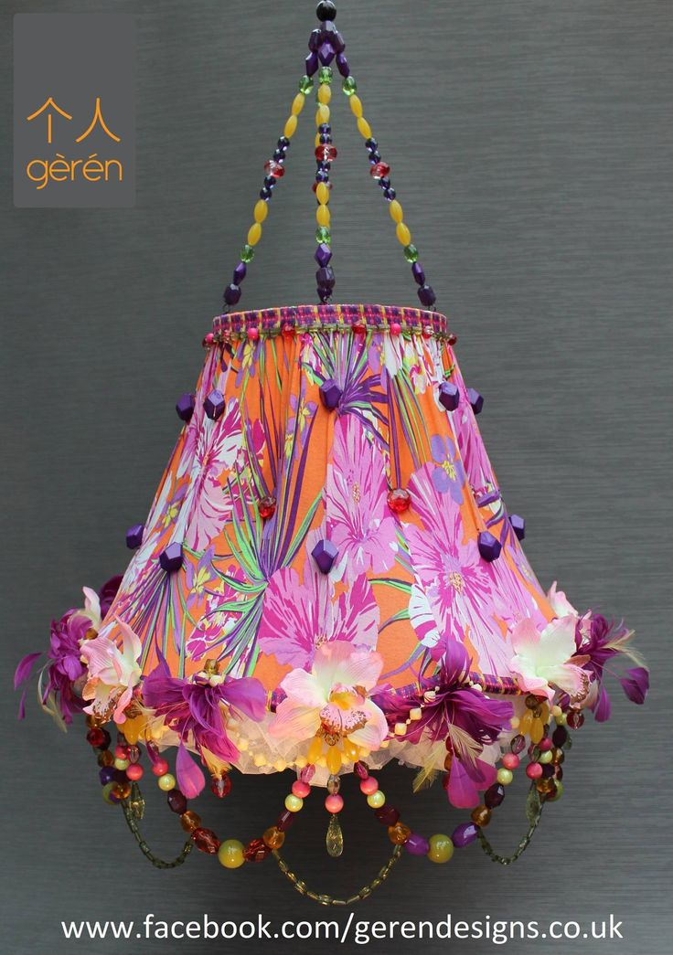 Paradise- exotic lampshade from Geren. Www.facebook.com/gerendesigns.co.uk