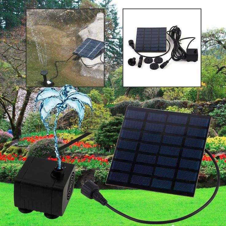 Profissional Ao Ar Livre de Energia Solar Bomba de Água Fonte de água Bomba de Piscina Jardim regar plantas de Sol ao ar livre(China (Mainland))