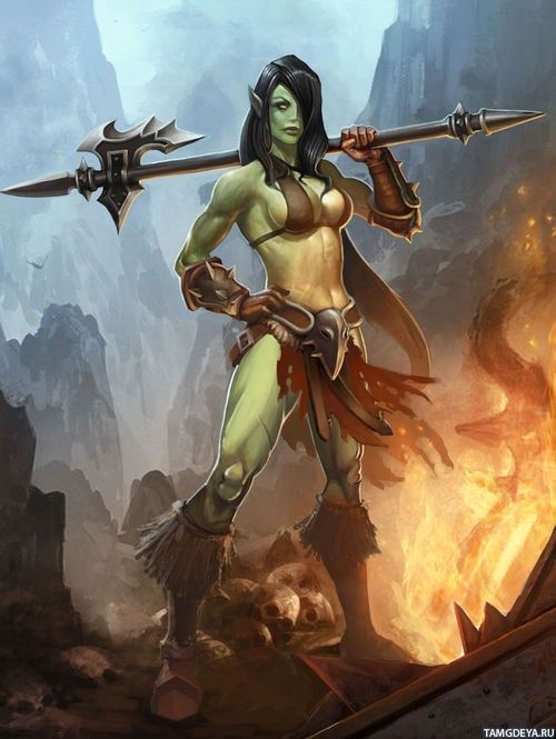 Remarkable, female orc warrior me