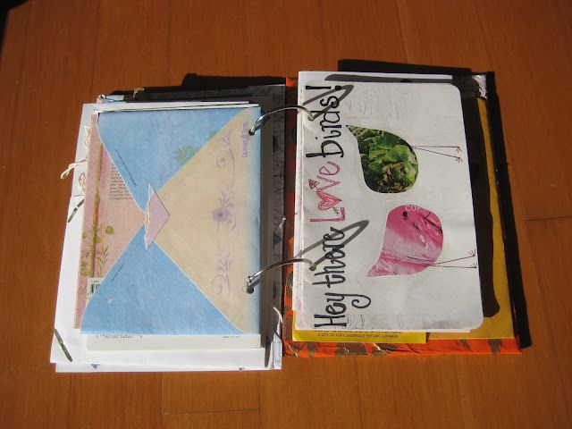 organize greeting cards with binder rings