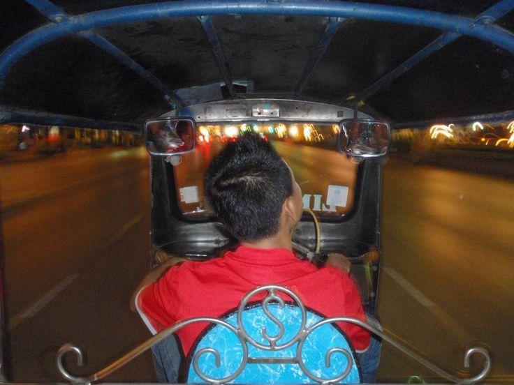 Bangkok..........crazy city! The normal way to get around - The Tuk Tuk