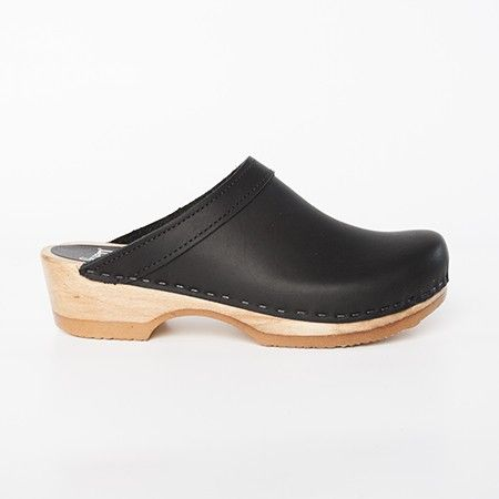 Plain Clogs - Low Heel - Sven