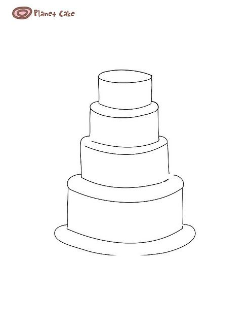four tier square wedding cake sizes 17 best images about cake templates on one 14428