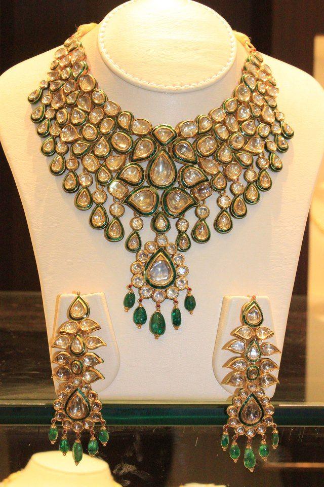 #indian #jewellery #polki #wedding #traditional #beautiful