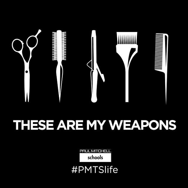 """These are my weapons, and #hairdressing is my craft. #PMTSlife"""