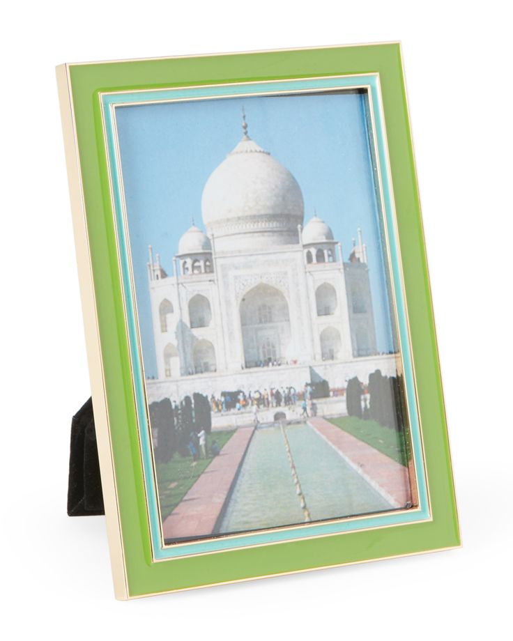 """Kate Spade 4"""" x 6"""" Portland Place Green Picture Frame"""
