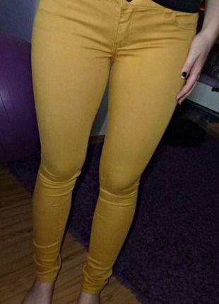 Kupuj mé předměty na #vinted http://www.vinted.cz/damske-obleceni/uzke-kalhoty/8804915-horcicove-elasticke-kalhoty